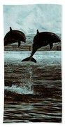 Dolphin Pair-in The Air Beach Towel