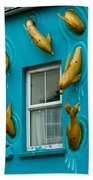 Dolphins At The Window Beach Towel