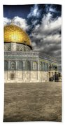 Dome Of The Rock Closeup Hdr Beach Towel