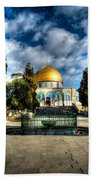 Dome Of The Rock Hdr Beach Towel by David Morefield
