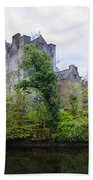 Donegal Castle In Donegaltown Ireland Beach Towel
