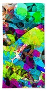 Dont Fall On The Road 3d Abstract I Beach Towel