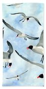 Don't Feed The Seagulls Beach Sheet