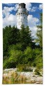 Door County Cana Island Vertical Panorama Beach Towel