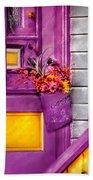 Door - Lavender Beach Towel by Mike Savad