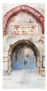 Door Series - Door 4 - Prison Of Apostle Peter Jerusalem Israel Beach Towel