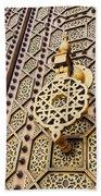 Doors Of The Hassan Mosque In Rabat Beach Towel