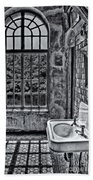 Dormer Bathroom Side View Bw Beach Towel