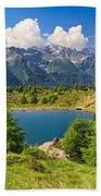 Doss Dei Gembri Lake In Pejo Valley Beach Towel