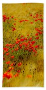 Dots Of Red Beach Towel
