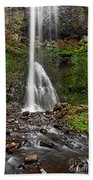 Double Falls In Silver Falls State Park In Oregon Beach Towel