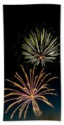 Double Fireworks Blast Beach Towel