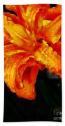 Double Petaled Lilly Beach Towel
