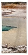 Doublet Pool In Upper Geyser Basin In Yellowstone National Park Beach Towel