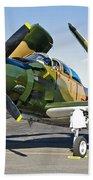 Douglas Ad-5 Skyraider Attack Aircraft Beach Towel