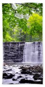 Dove Lake Waterfall At Gladwyne Beach Towel
