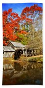 Down By The Old Mill Stream  Beach Towel by Lynn Bauer