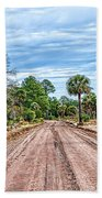 Down Chisolm Island Road Beach Towel