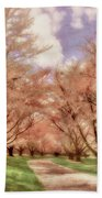 Down The Cherry Lined Lane Beach Towel