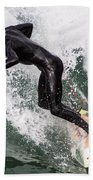 Down The Wave Slope Beach Towel