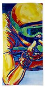 Downhill Racer Beach Towel