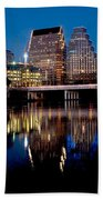 Downtown At Dusk Beach Towel