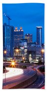 Downtown Atlanta At Dusk Beach Towel