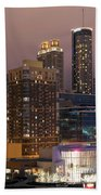 Downtown Atlanta Skyline At Dusk Beach Towel