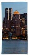 Downtown Boston Skyline Beach Towel