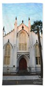 Downtown Charleston Church Beach Towel