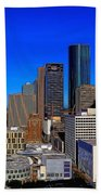 Downtown Houston Painted Beach Towel