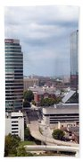 Downtown Knoxville Tennessee Skyline Beach Towel