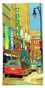 Downtown Montreal Eatons Centre Complex Les Ailes Old Navy Rue Mcgill College City Scenes  C Spandau Beach Towel