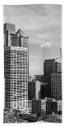 Downtown Philadelphia Beach Towel by Rona Black