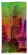 Downtown Seattle Cubed 1 Beach Towel
