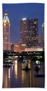Downtown Skyline Of Columbus Beach Towel