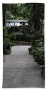 Downward Sloping Part Inside The National Orchid Garden In Singapore Beach Towel