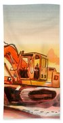 Dozer In Watercolor  Beach Towel