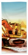 Dozer October Beach Towel