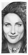 Dr. Lisa Cuddy - House Md Beach Towel by Olga Shvartsur