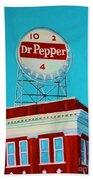 Dr Pepper Sign Roanoke Virginia Beach Towel