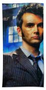 Dr Who Number 10  Beach Towel