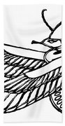 Dragon - Demon Of Ancient Egypt Beach Towel