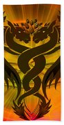 Dragon Duel Series 3 Beach Towel