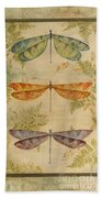 Dragonflies Among The Ferns-12415 Beach Towel