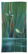 Dragonfly Diner Beach Towel