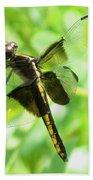 Dragonfly Female Widow Skimmer Beach Towel
