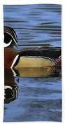 Drake Wood Duck Beach Towel