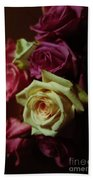 Dramatic Purple And Yellow Roses Beach Towel
