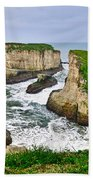 Dramatic View Of Shark Fin Cove In Santa Cruz California. Beach Towel